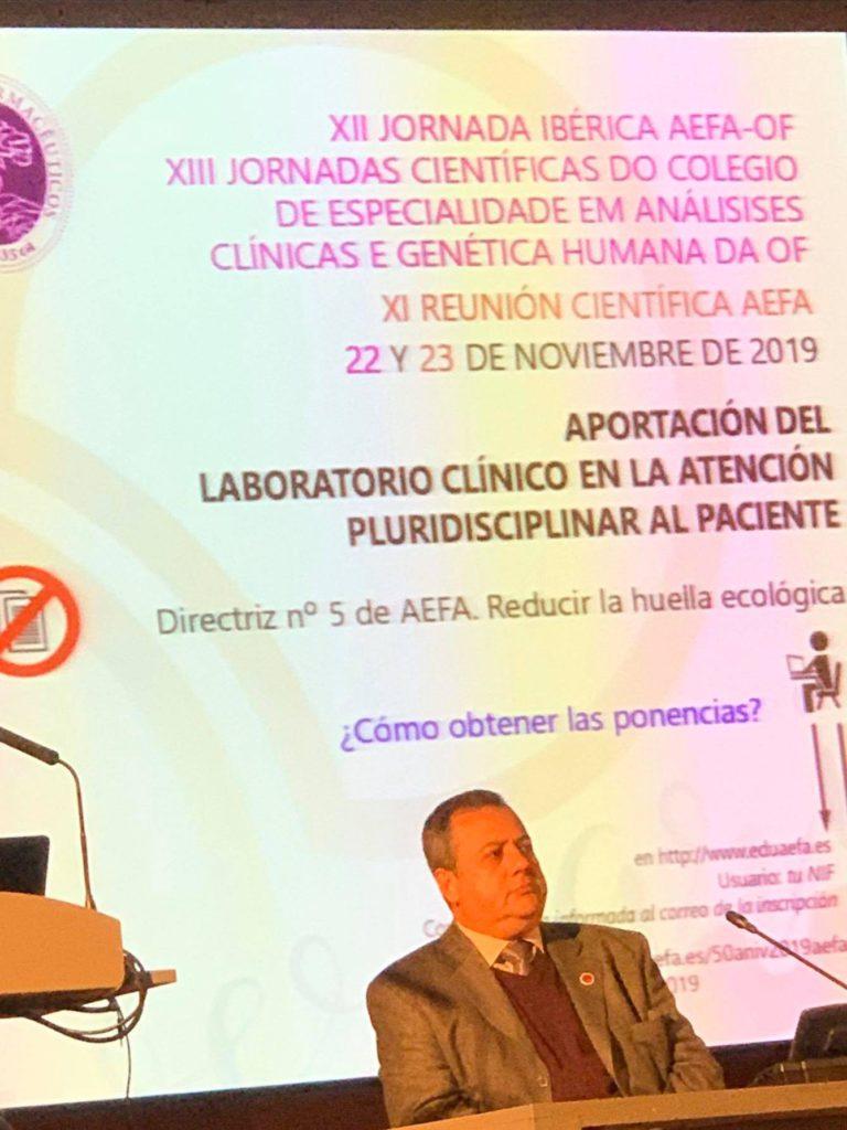 Dr. Alvaro Justiniano Grosz en Xll Jornada Ibérica AEFA-OF